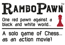 RamboPawn - one red pawn against a black and white world